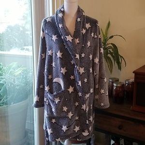 Better Living Robes Stary Night Fluffy Robe -Short
